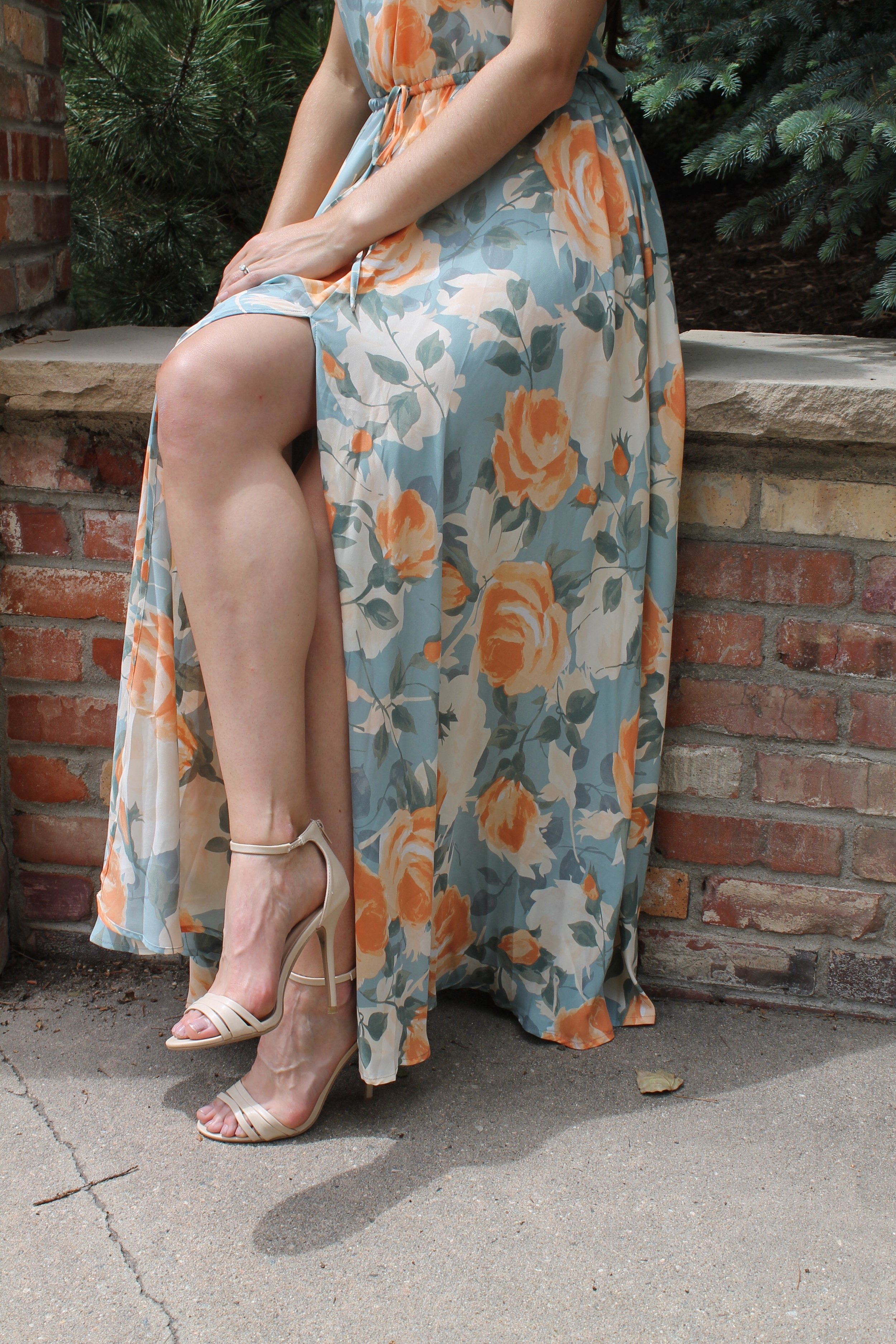 Brand New Day Natural Ankle Strap Heels from Lulu's