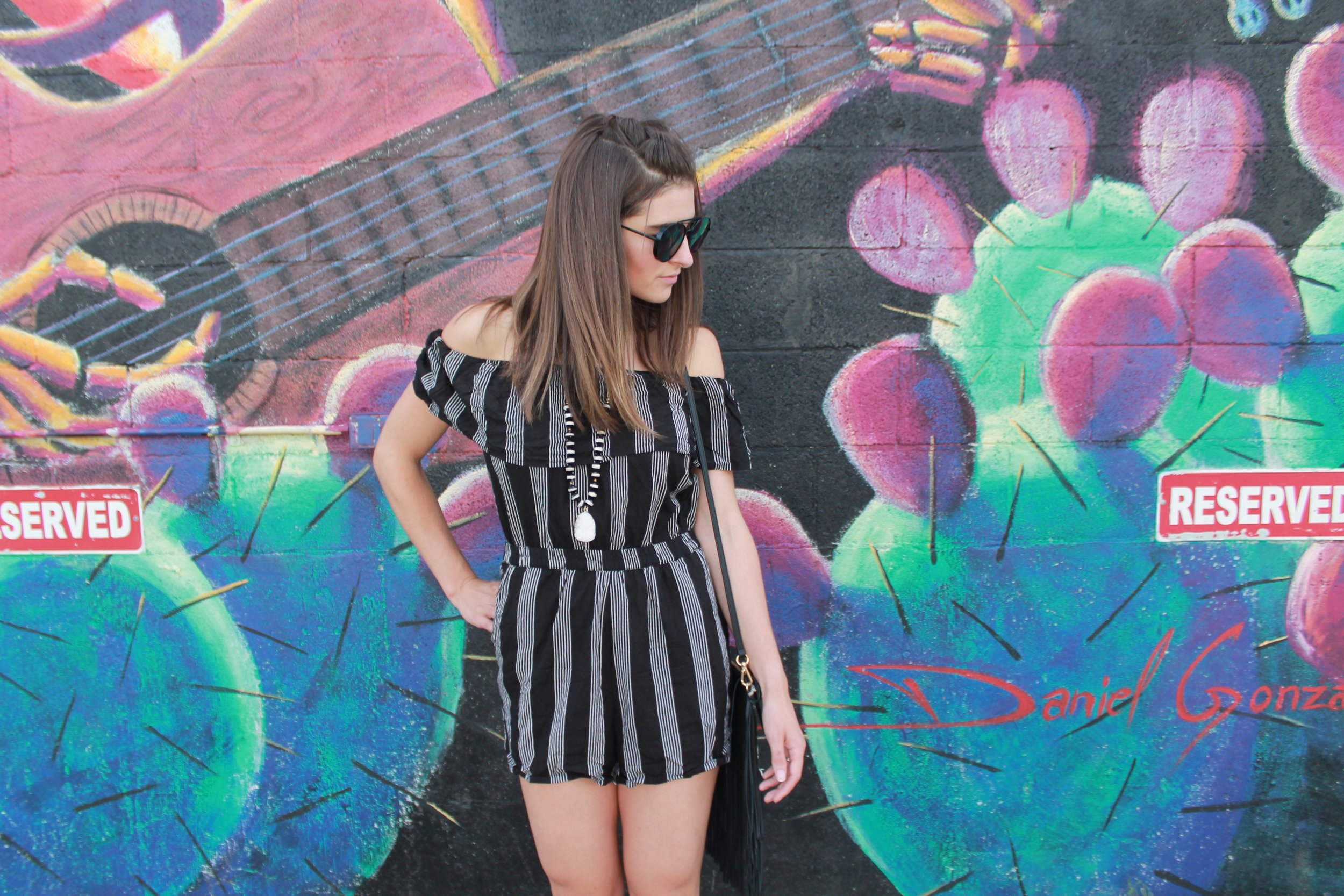 Black & White Romper from Scout & Molly's