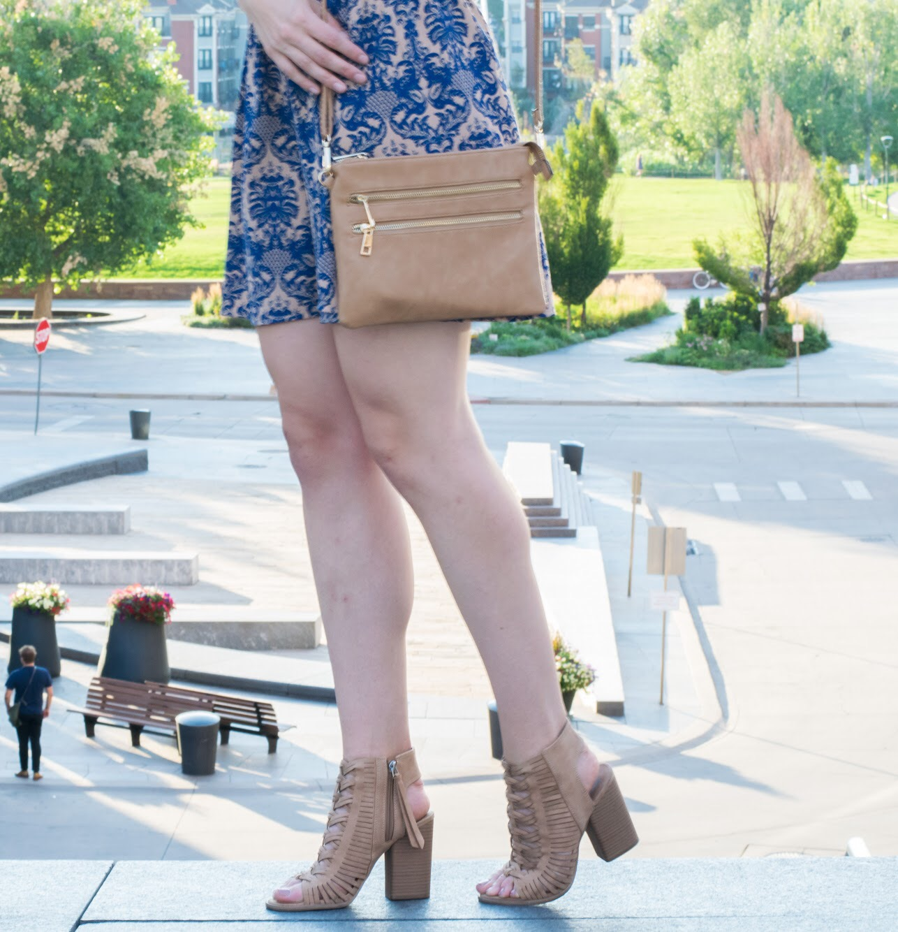 dv Alyson Peep Toe Booties - Taupe from Target