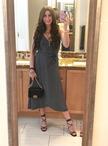 OOTD - Occasion: Dr. Dana's graduation party!May 2019Outfit Details:AYR, The Cherry Flavor DressLEATHER HIGH HEELED STRAPPY SANDALSSmall Boy Chanel HandbagMERCII GEMINI NECKLACE