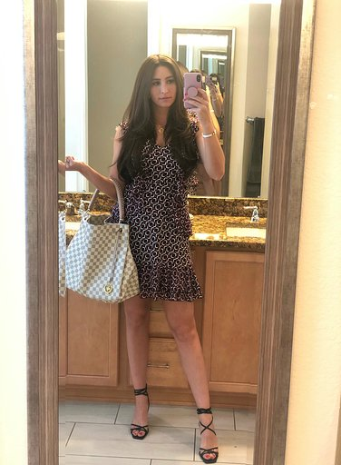 OOTD - Occasion: Potential V, V exciting project to hopefully share with you all soon!!! & work lol.July 2019Outfit Details:Macys, MICHAEL Michael Kors, Printed Ruffled DressLouis Vuitton Artsy MMLEATHER HIGH HEELED STRAPPY SANDALS