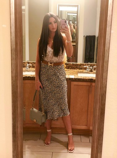 OOTN - Occasion: Labor Day Weekend, Dinner at El FiveSeptember 2019Outfit Details:Forever 21, Sheer White Lace BodysuitMERCII GEMINI NECKLACEMERCII UNITY NECKLACEZara, HEELED SANDALS WITH WOOD AND VINYLChanel Grey Quilted Caviar Medium Boy BagSimilar Leopard SkirtSimilar Hermes Belt