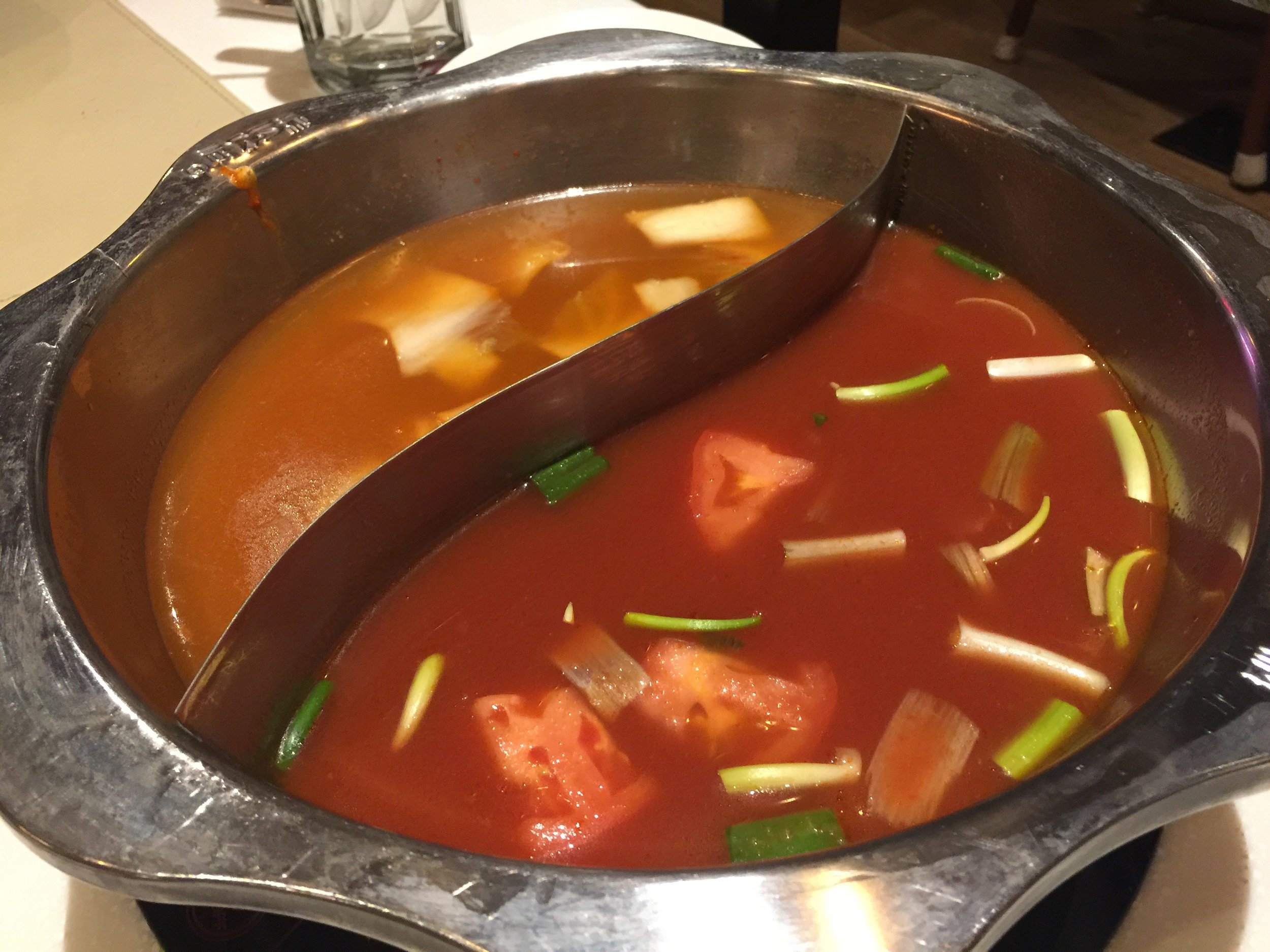 Tomato and Kim Chi Broth