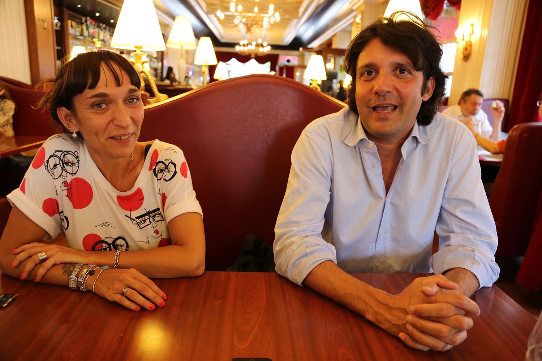 Cristina Tango, vice-presidente del Com.it.Es di Ginevra, e Andrea Pappalardo, presidente.