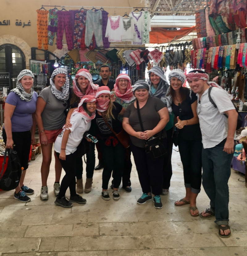 Our FAM with G Adventures in Jordan