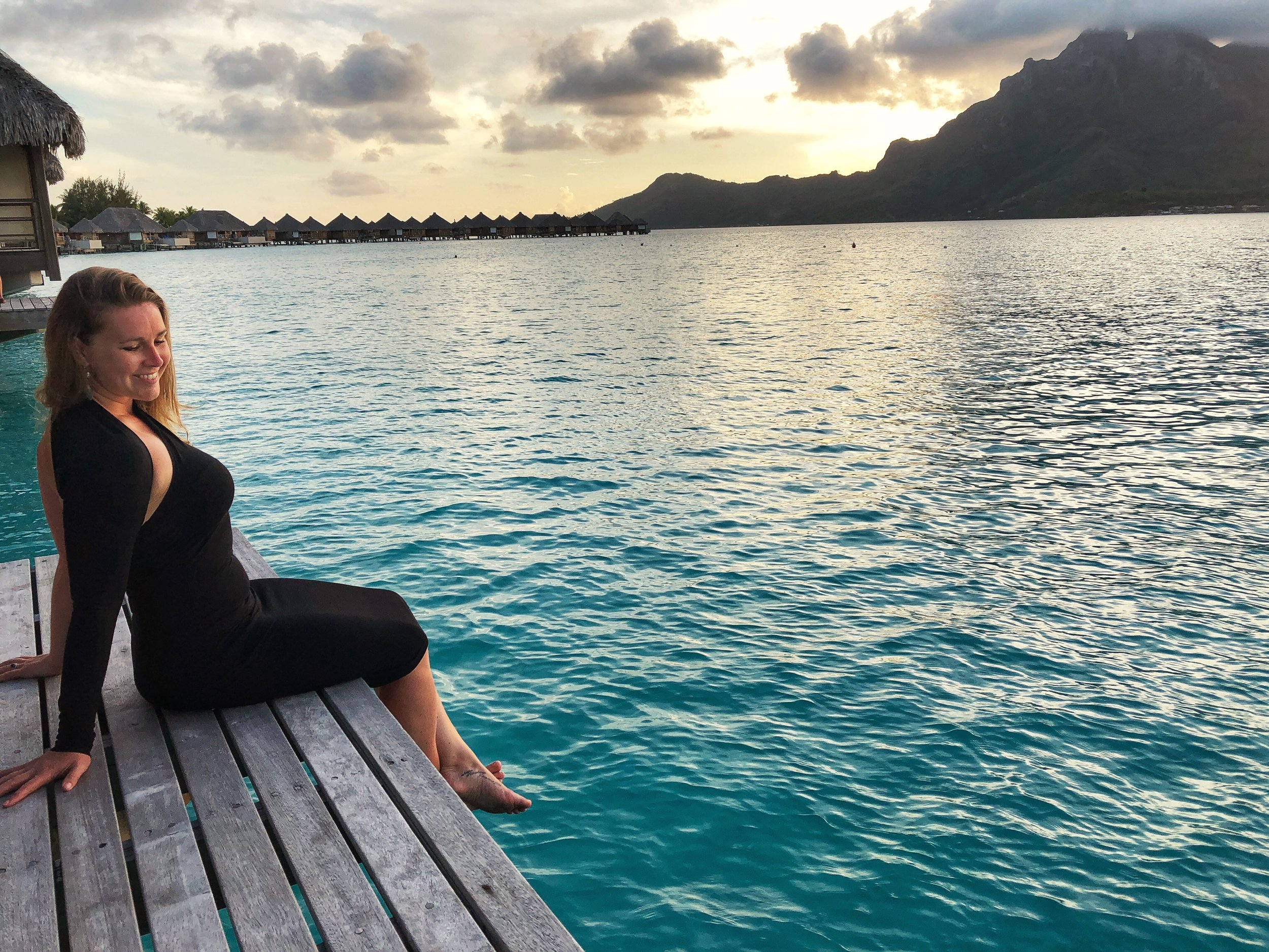 Pure relaxation in Bora Bora. No agenda, no exploring - just me and this sunset.