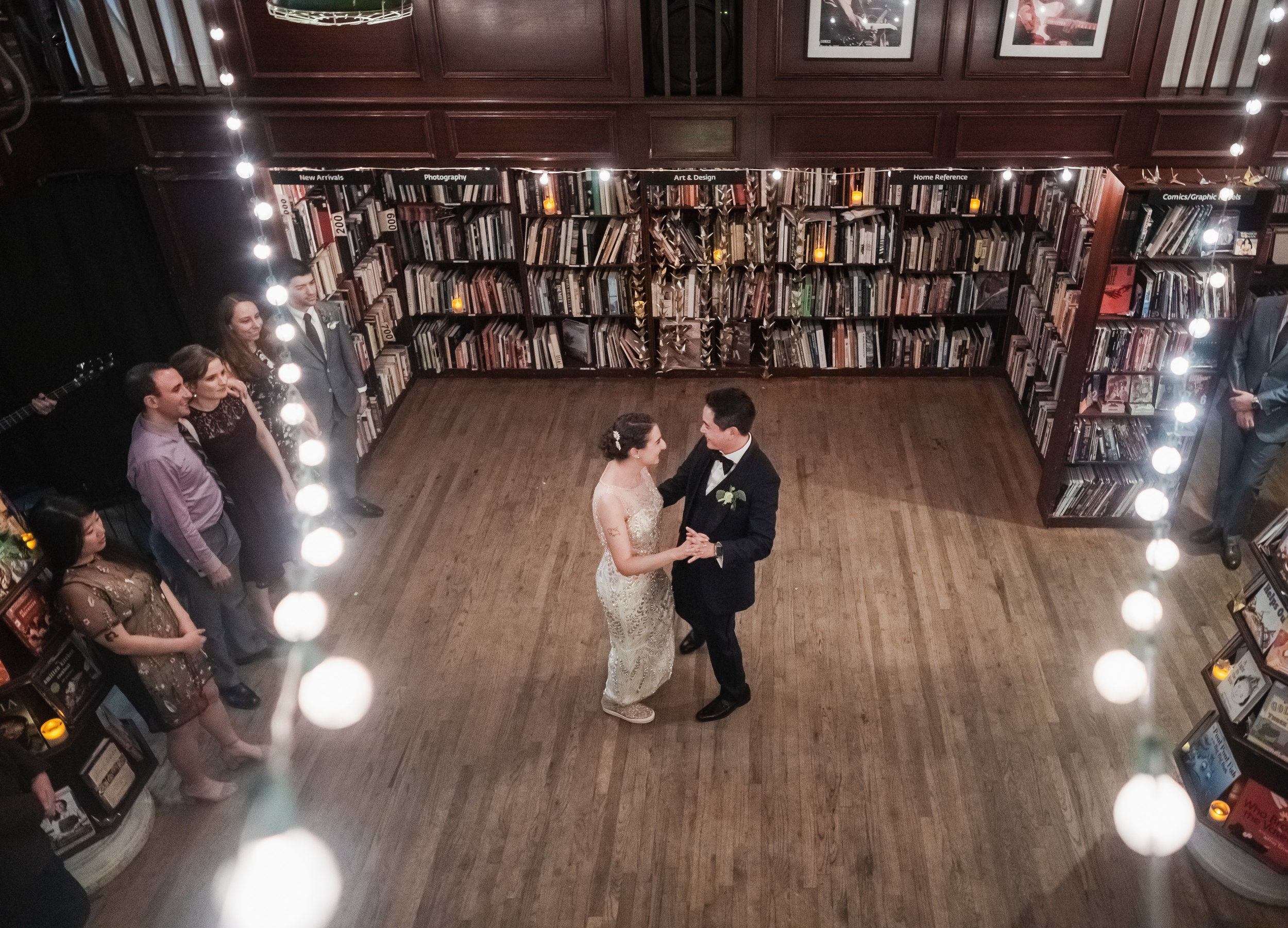 Fall Housing Works Bookstore Wedding