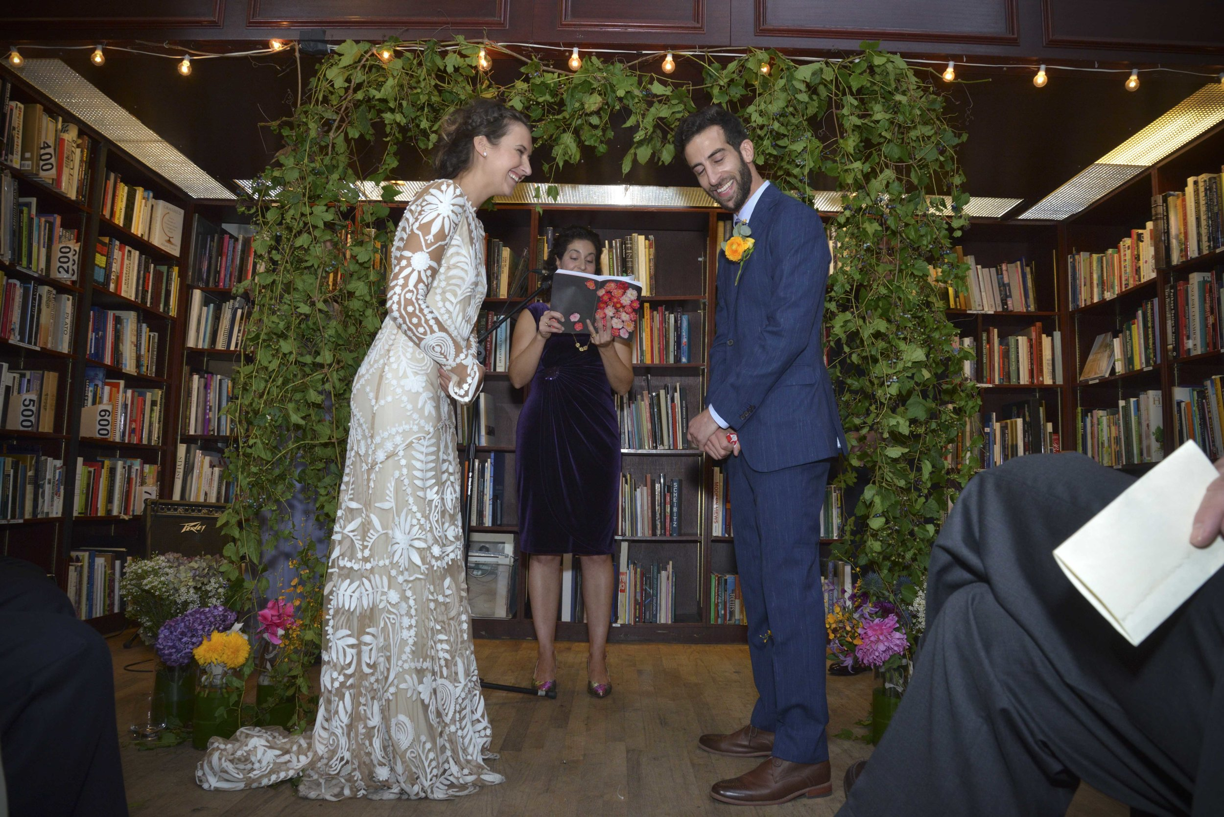 Housing Works Bookstore Fall Wedding