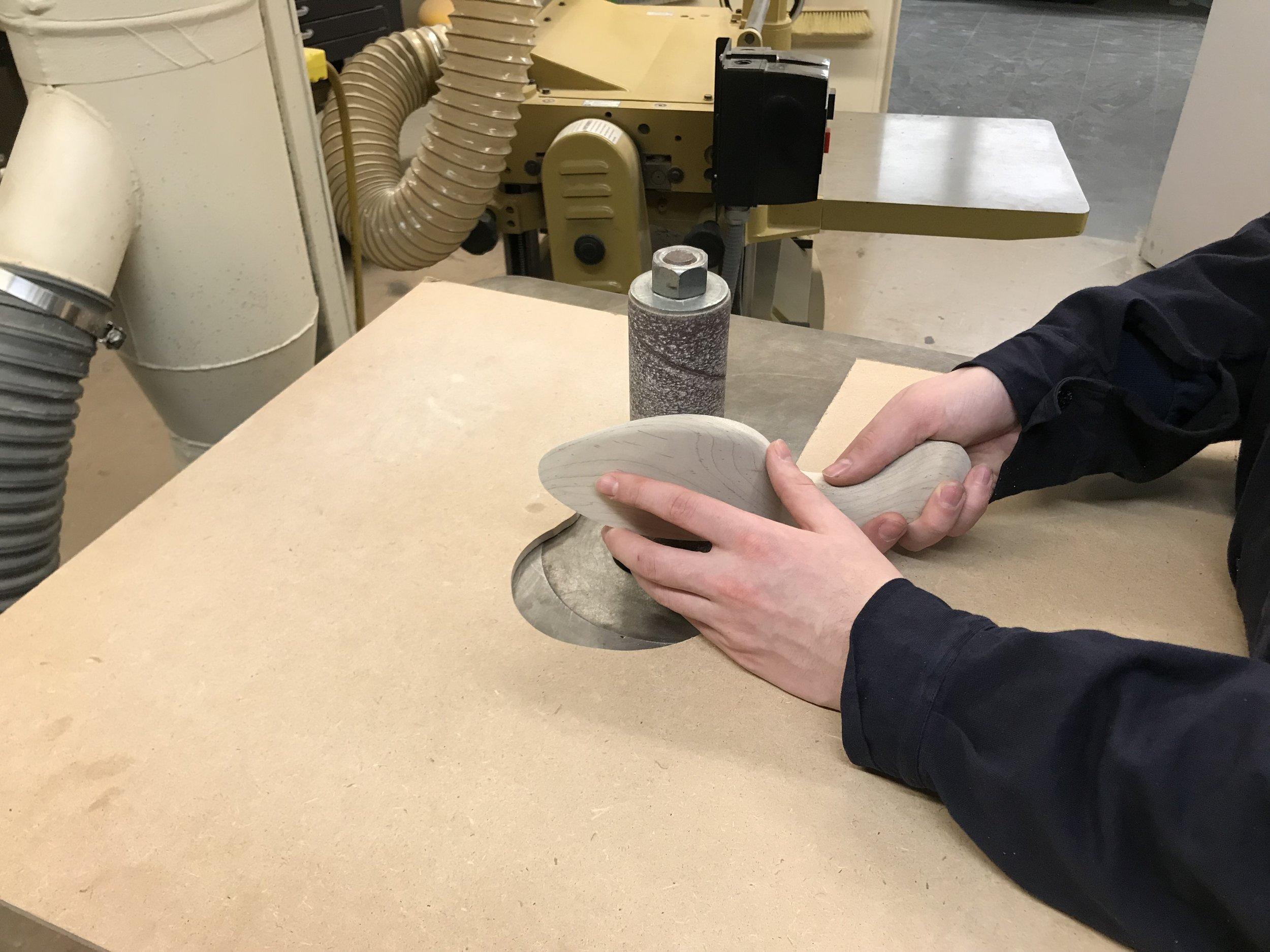 rough machine sanding