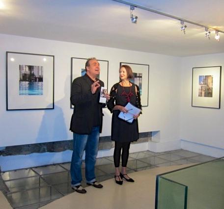 Alyssia Lazin and Maurizio Vanni, Museum Expert, Historian & Art Critic,Lu.C.C.A. Museum, Lucca Italy.