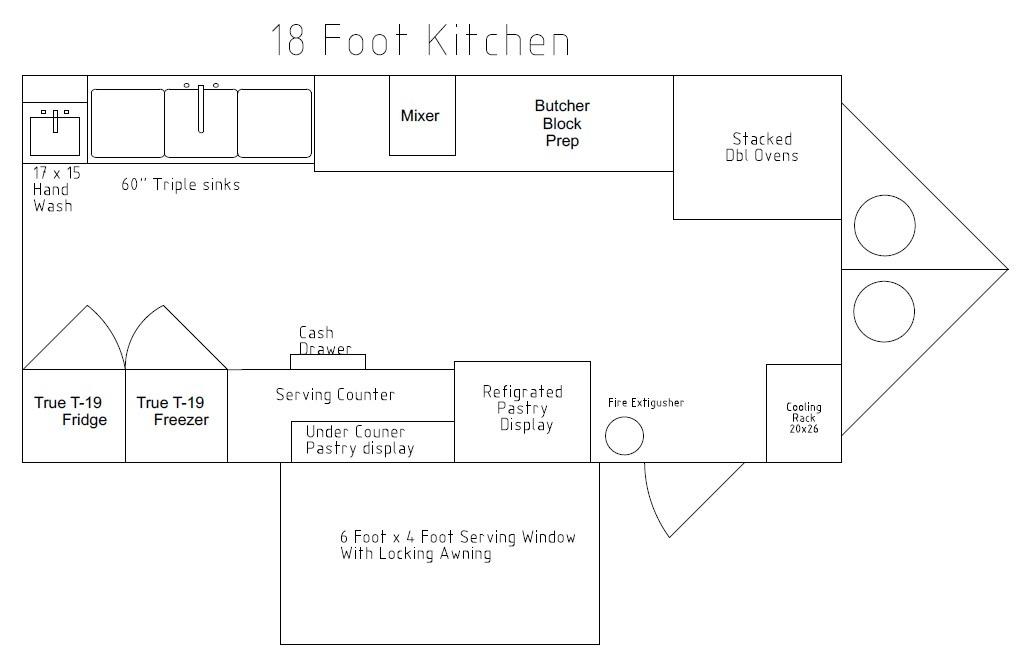 8.5 x 18 food cart for Bakery menu