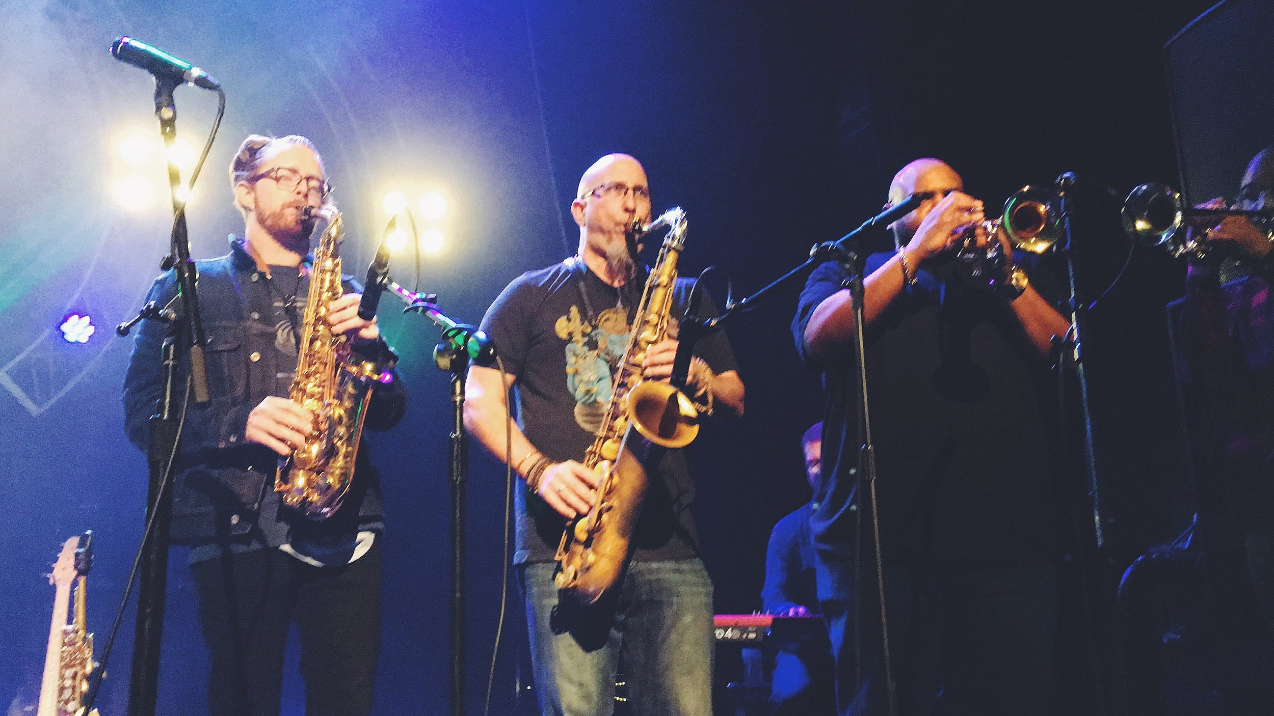 Jack Sheehan, Jeff Coffin, Rashawn Ross & Brandon Lewis at Jefferson Theater Charlottesville, VA - DMB AfterParty 12/14/2019