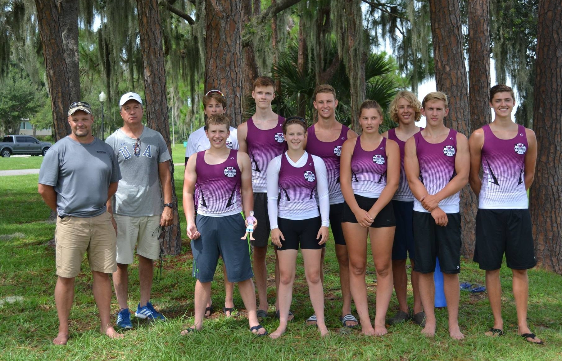 Keystone Paddlers at 2017 Sprint Canoe/Kayak Nationals in Clermont, Florida