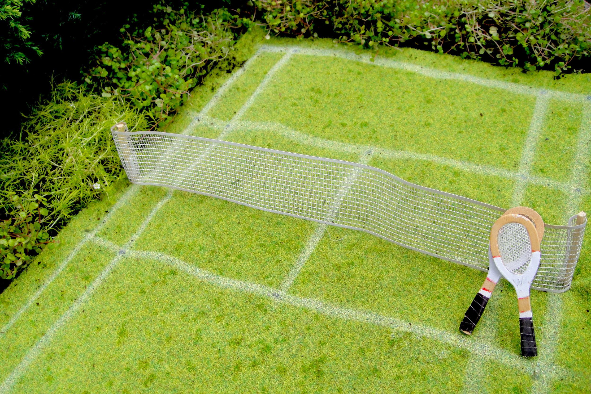 wimbledon tennis London pothole garden raquet