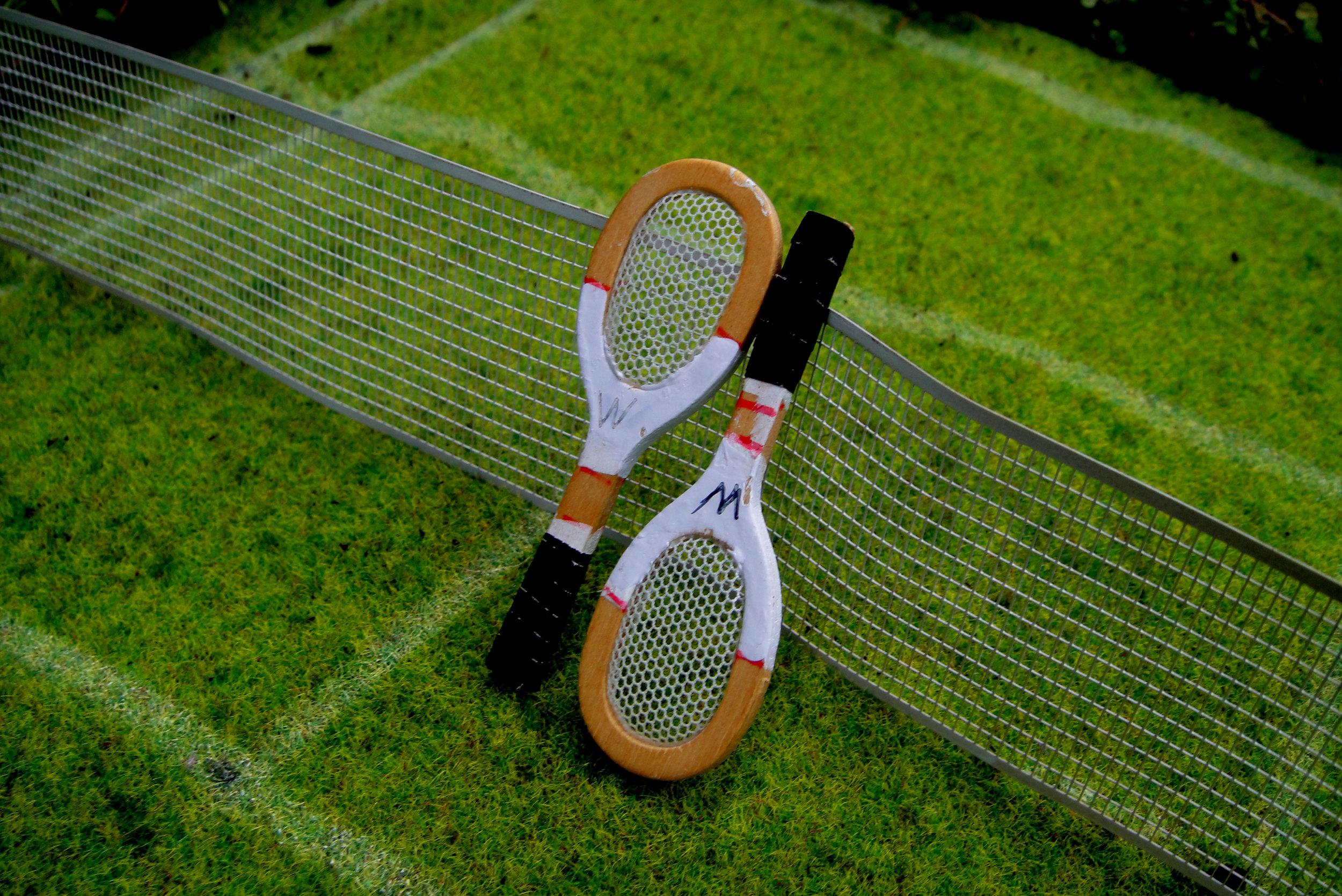 wimbledon tennis London pothole garden CU raquet