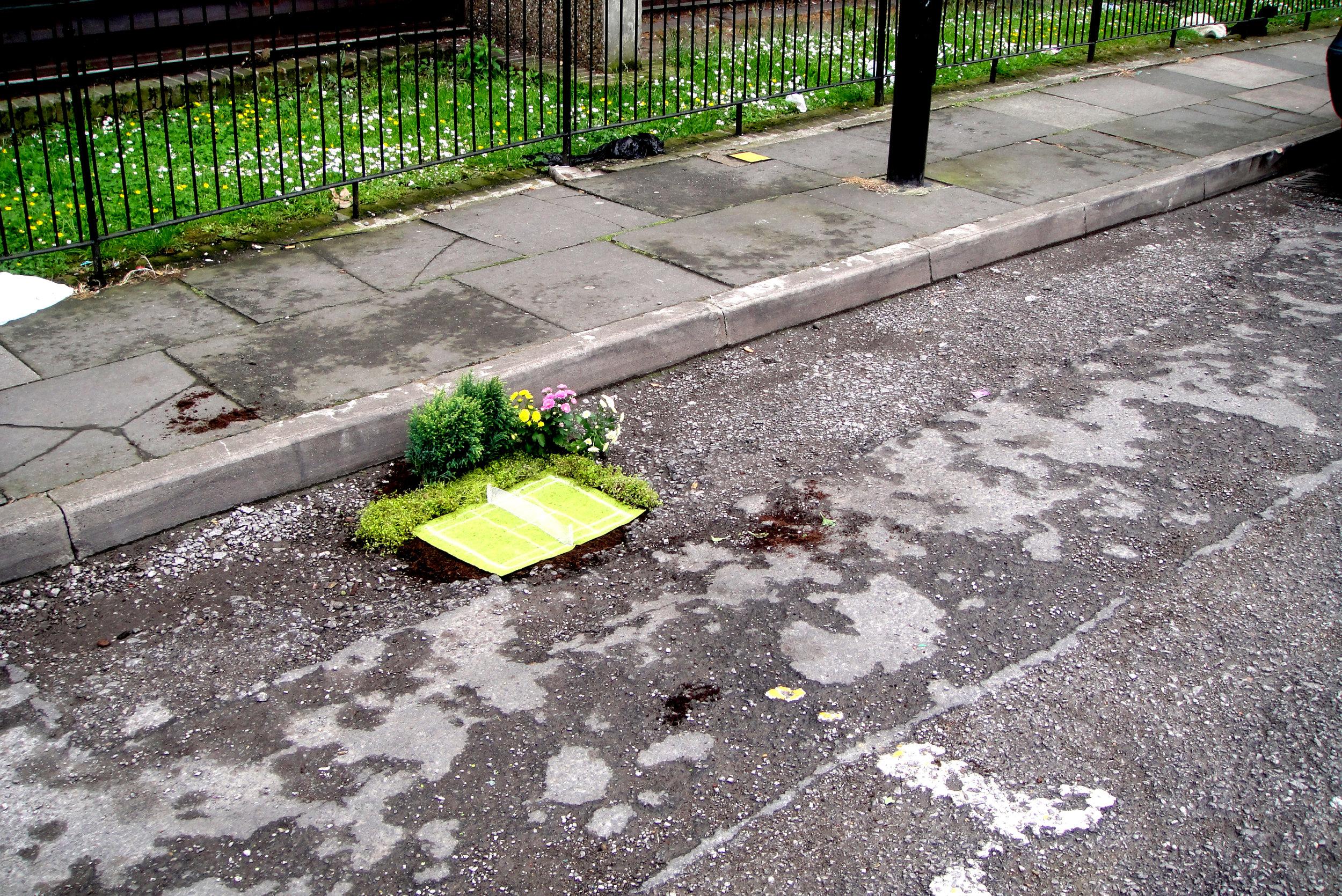 wimbledon tennis London pothole garden