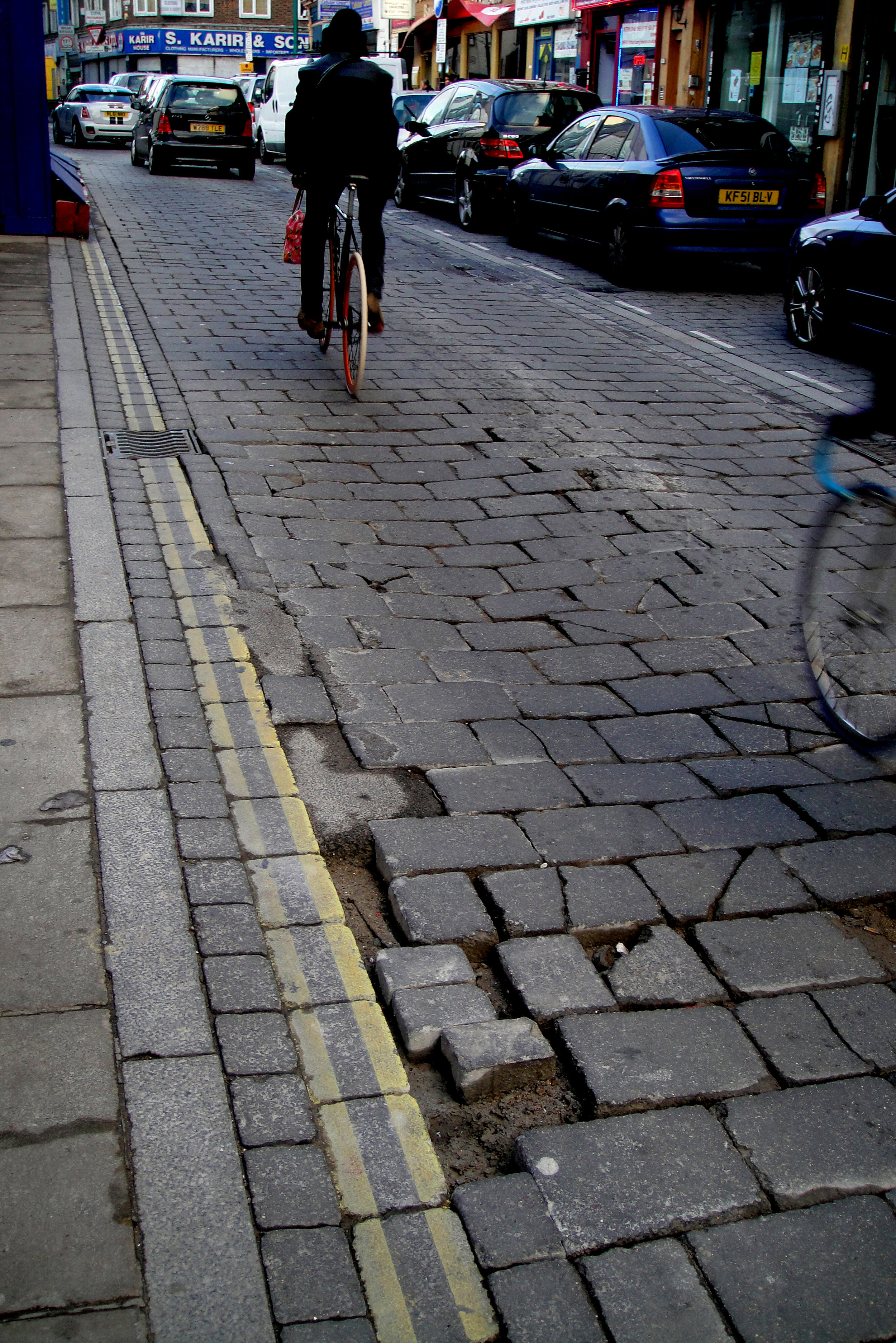 brick lane pothole London pothole gardener