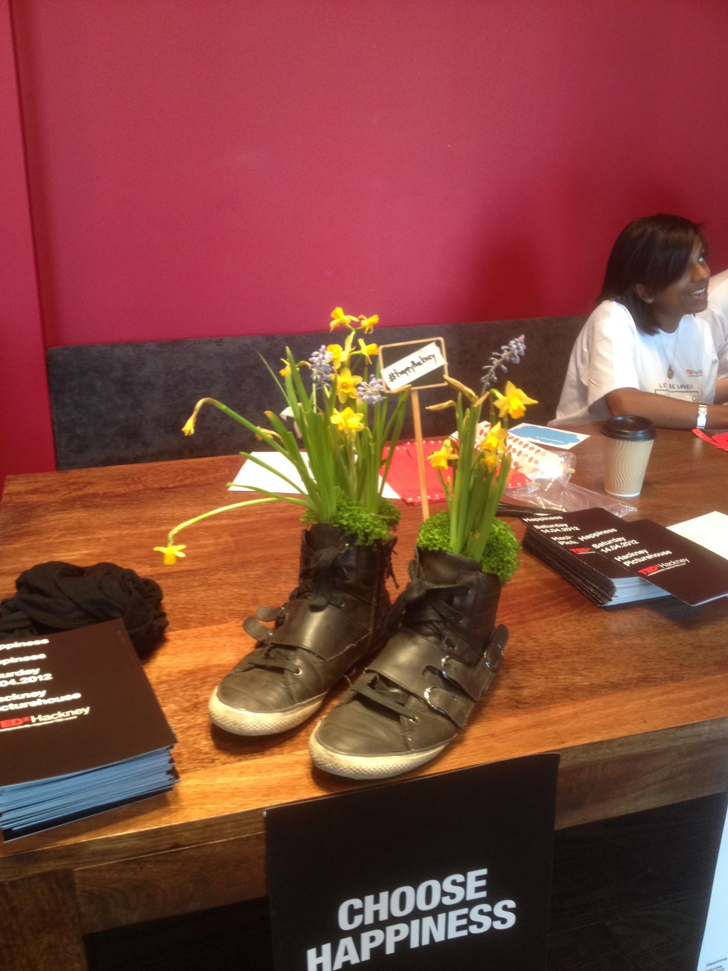 garden in shoes at TEDxHackney