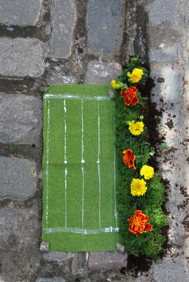 London2012 Olympics Pothole Garden 100 meters athletics steve wheen potholegardener