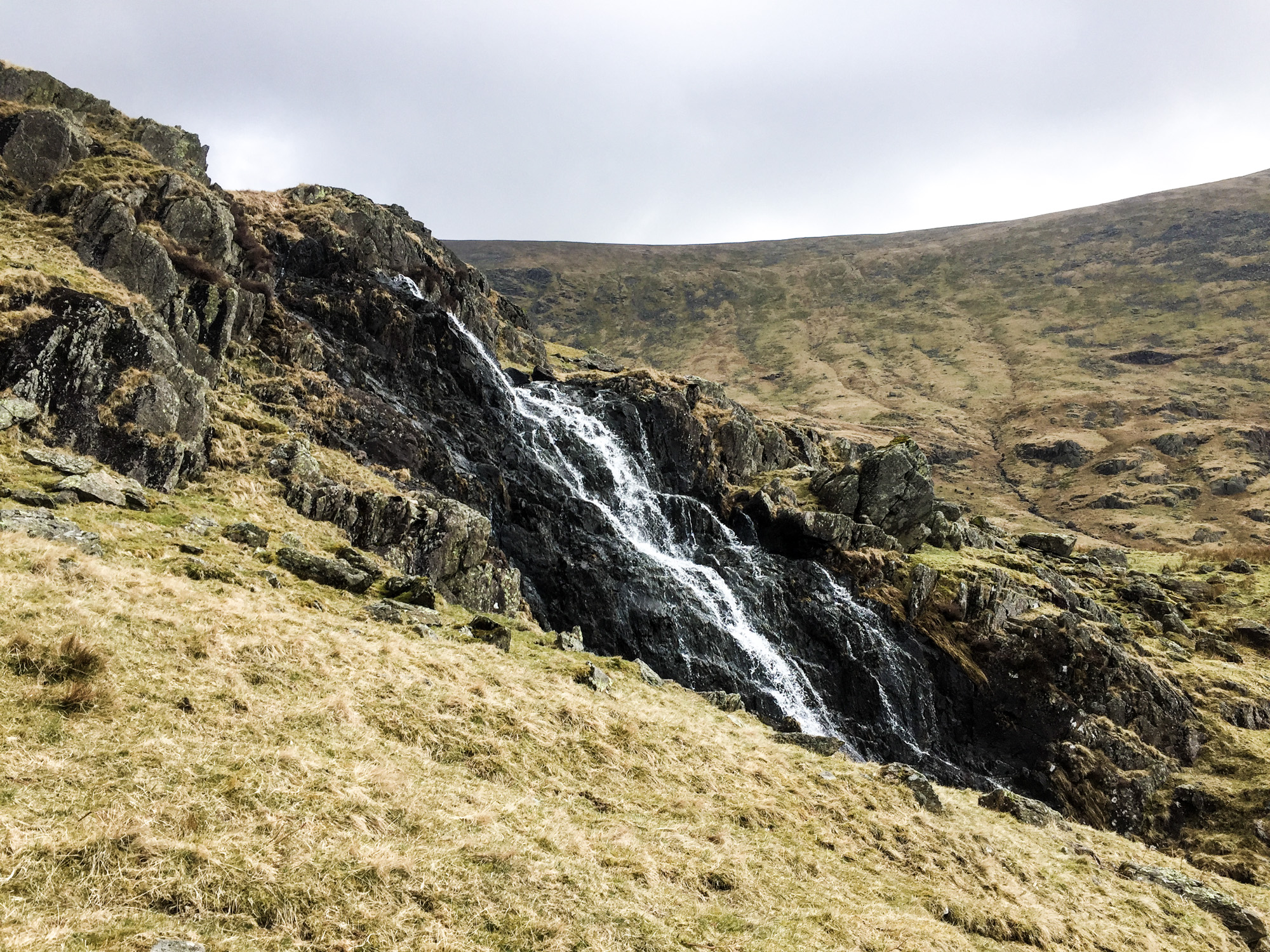 Waterfall on the way down