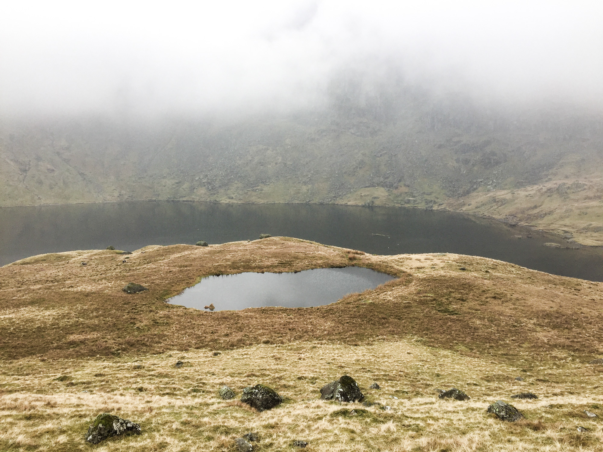 Stickle Tarn lake (the big one in the back)