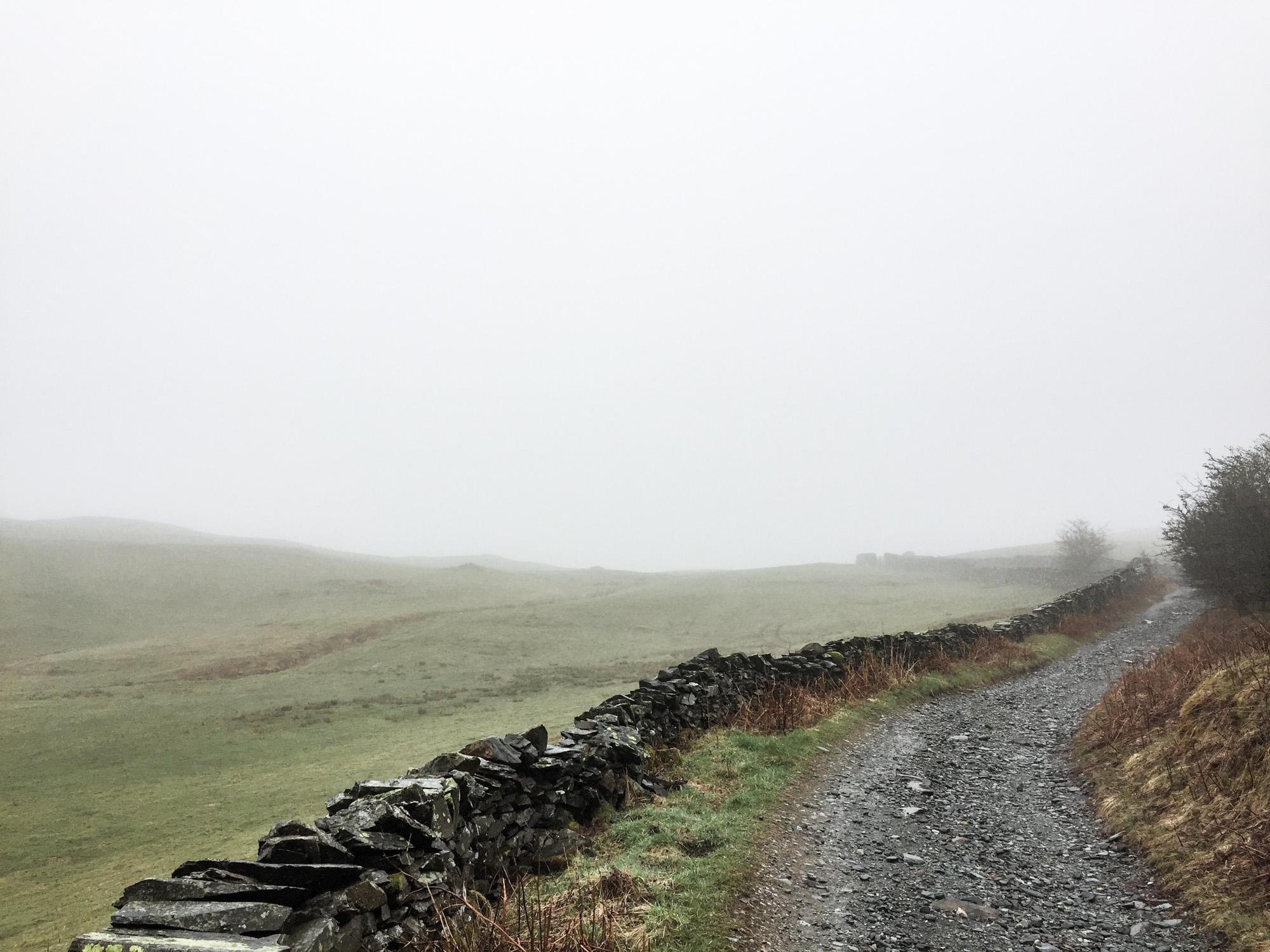 Gravel road past Dubbs Reservoir