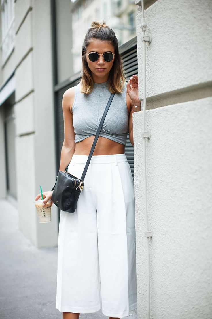 culottes with crop top