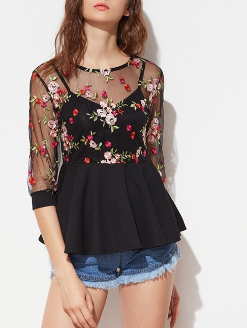 party look mesh embroidery