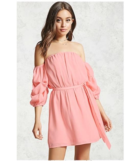 blush pink party dress ruffle