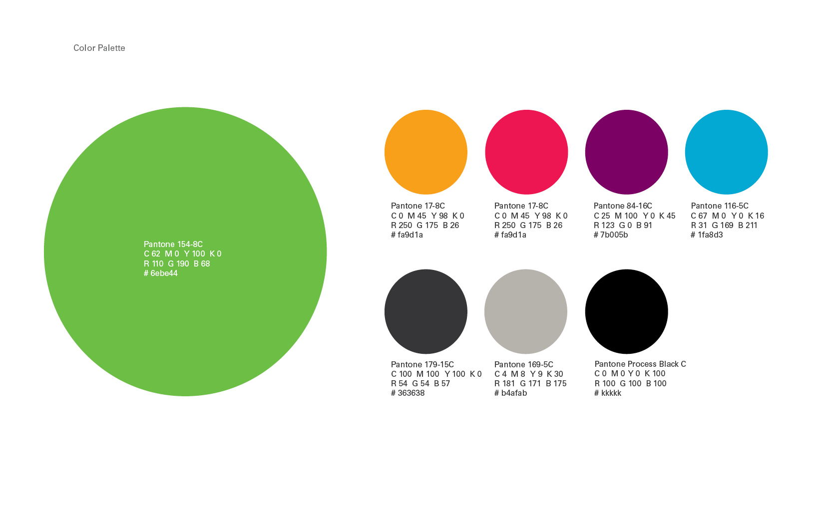 Chicago Botanic Garden Identity System Color Palette