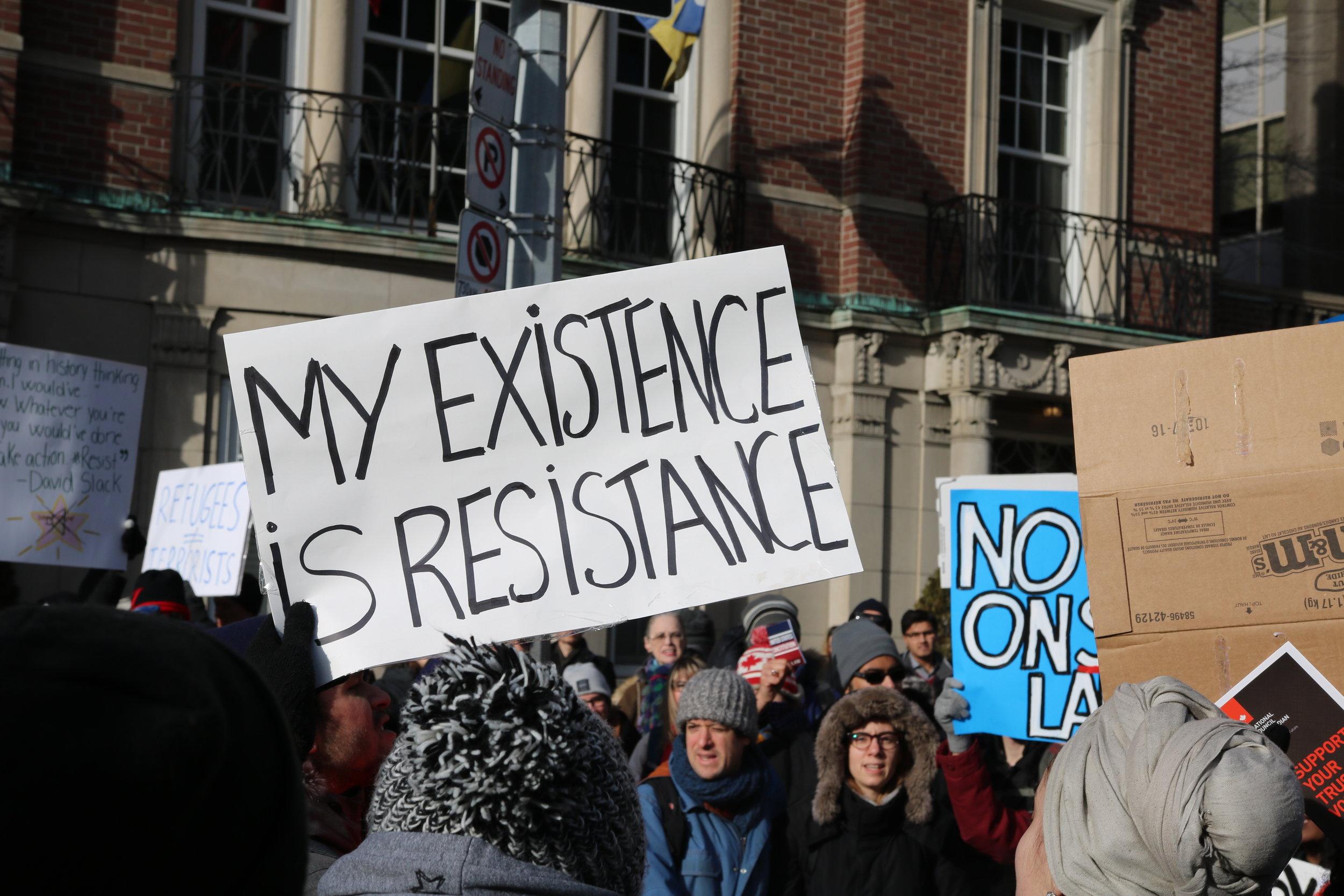 Photo from Anti Wall, Anti Ban rally in Toronto