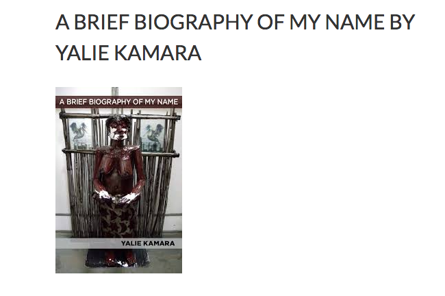 - Review: Brief Biography of My Name, North of Oxford, February 1, 2019