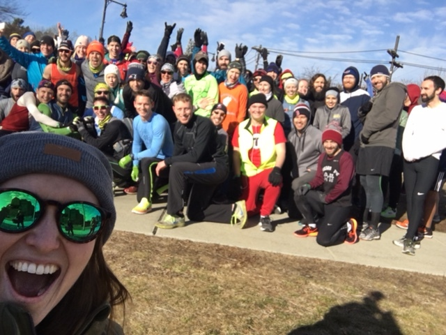 100+ people raced the T for Back on My Feet
