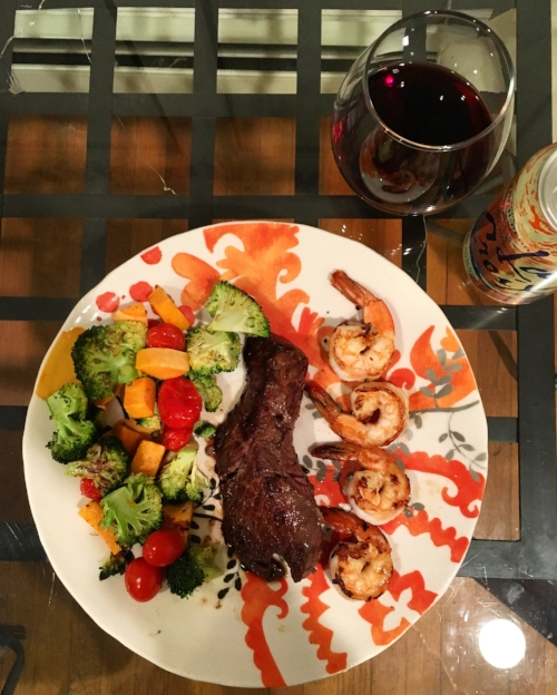Nothing like a little surf and turf. Because #science.