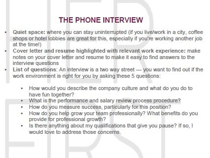 Job InterviewOverview - You asked for it — the complete guide to job interviews.A comprehensive checklist that walks you through the entire interview process step by step. I have you covered — from that first phone call through answering the tough questions to resigning from your current job.