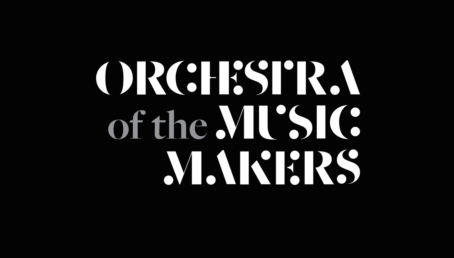 Created specially for the orchestra by Epigram Design, OMM's logo evokes impressions of musical notes and symbols. The combination of black and white colours is associated with the attire normally adorned by classical musicians.