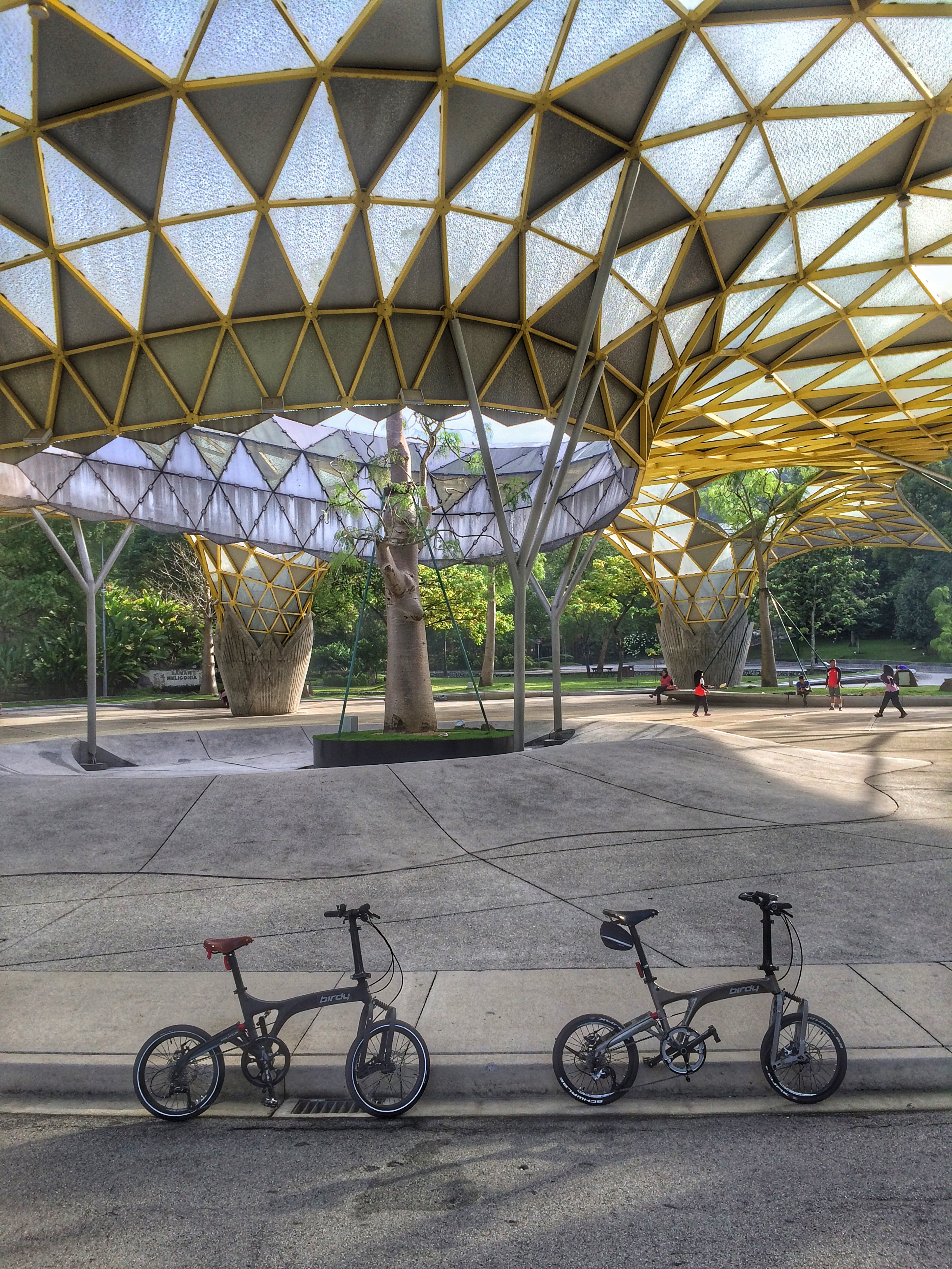The skate park at the Perdana Botanical Gardens.