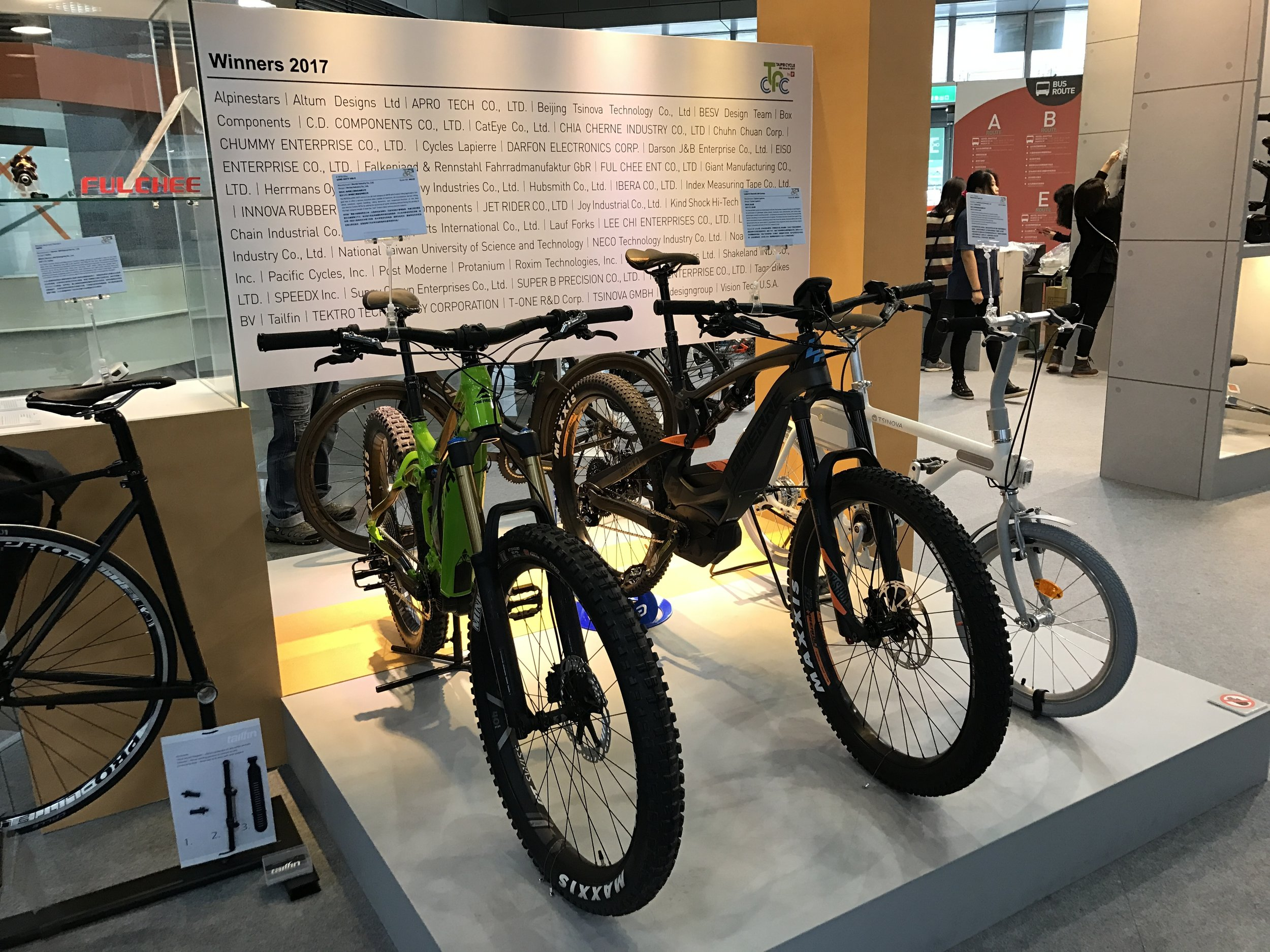 Running around the Taipei Cycle Show on the last day to squeeze in as many last minute interviews as possible. E-bikes and E-MTBs seem to be the upward trend!