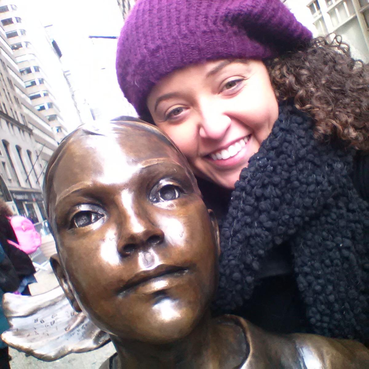Fearless Girl Selfie