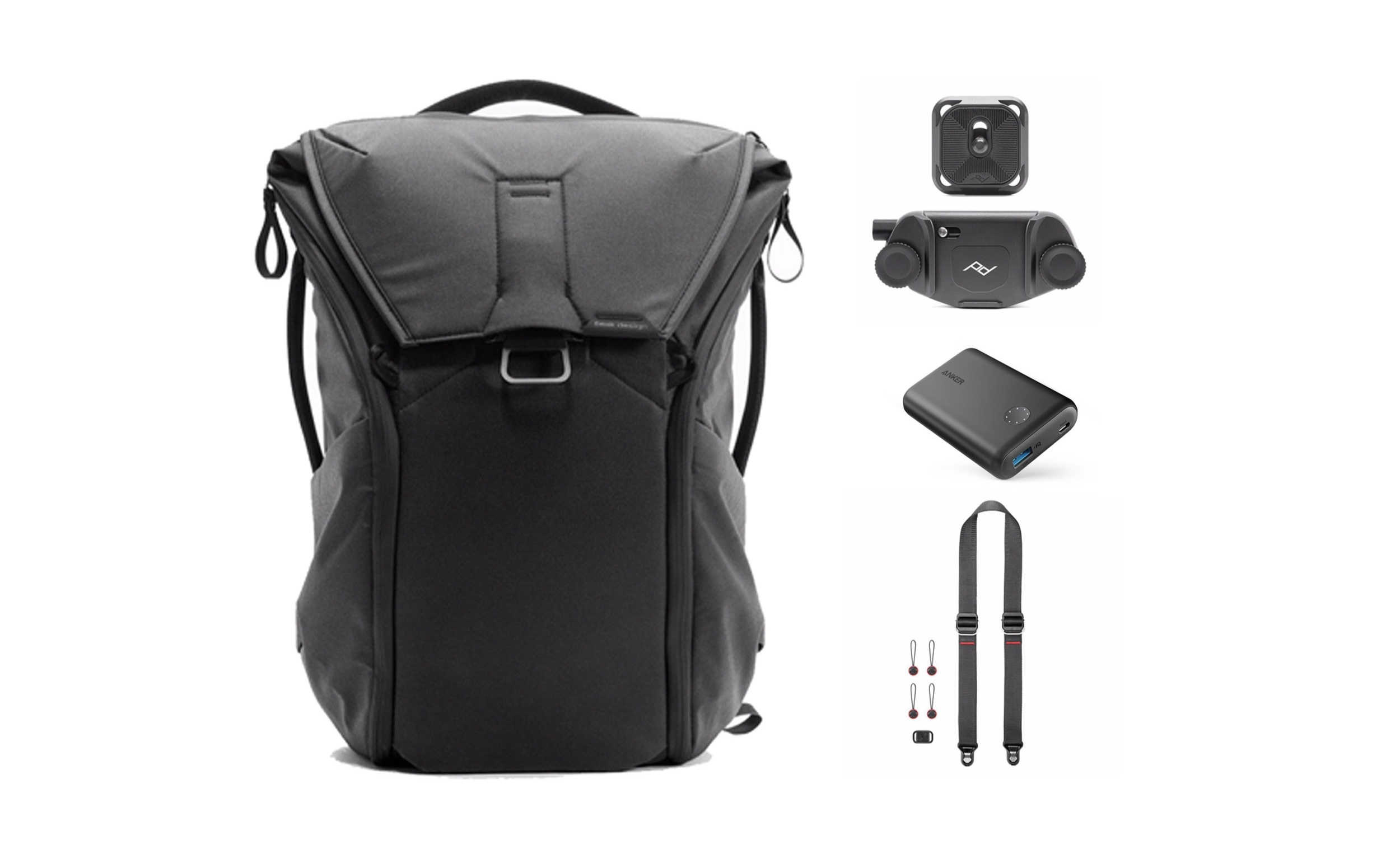 1st prize - Peak Design Urban Kit including:Everyday Backpack (Black)Slide Lite Camera StrapCapture Camera ClipAnker PowerCore II 10,000mAh portable battery