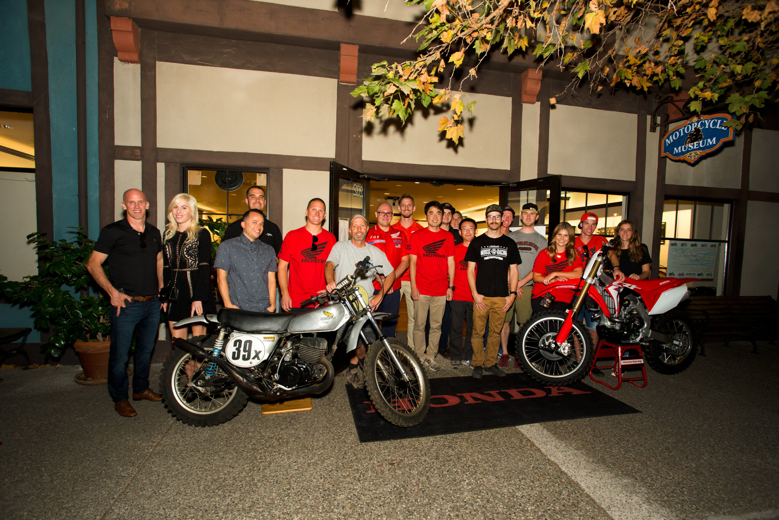 The icing on the cake was a field trip to the Solvang Vintage Motorcycle Museum, where the new CRF250R was displayed alongside Honda's original Elsinore 250cc motocrosser.  Image: HighRev Photography
