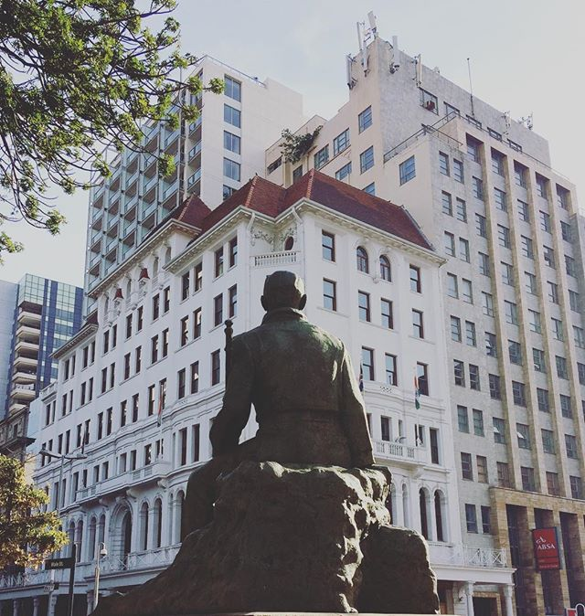Gen Smuts is taking in the scenery. Corner of Adderley & Wale. Cape Town.  #attorney_cpt #capetown #jansmuts #mothercity #law