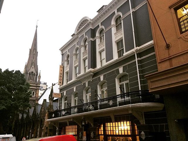 Clouds are gathering over the City Bowl, but the Tudor Hotel accross the street from us looks cozy  #capetown  #architecture  #mothercity  #attorney_cpt  #southafrica #city #citystreets #weather