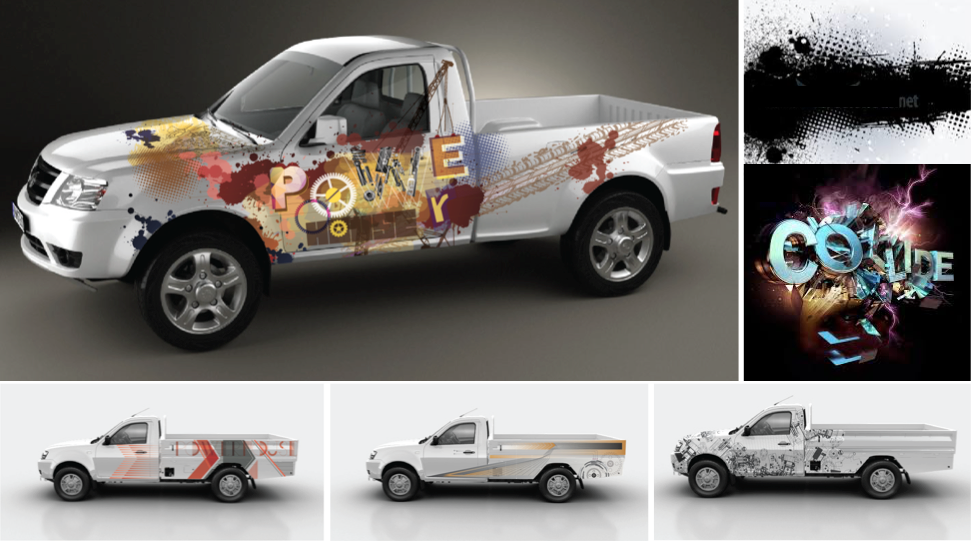 Livery design for an off-roader truck showcased in Tata's annual dealers show, 2015