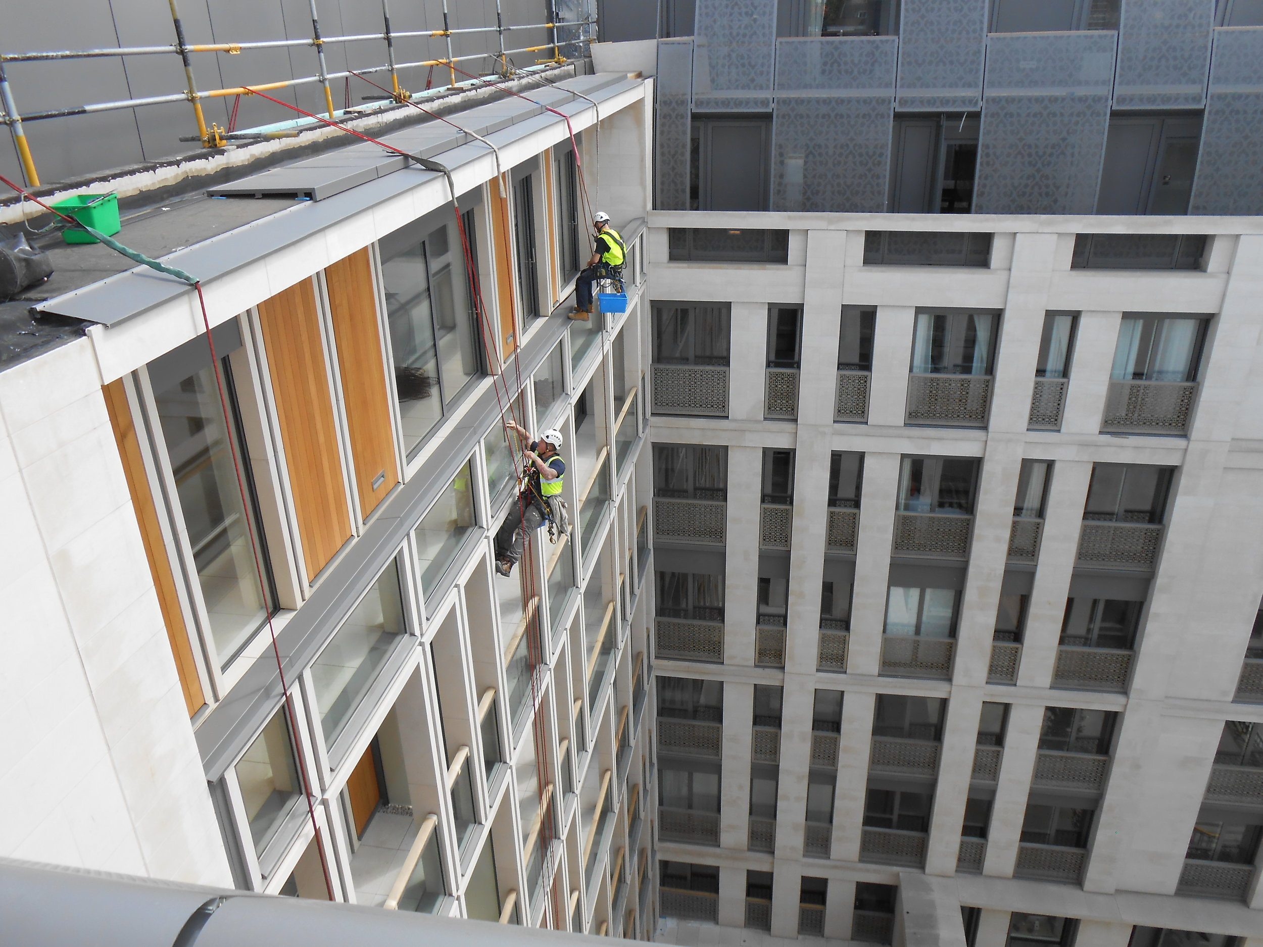 Rope access window cleaning london
