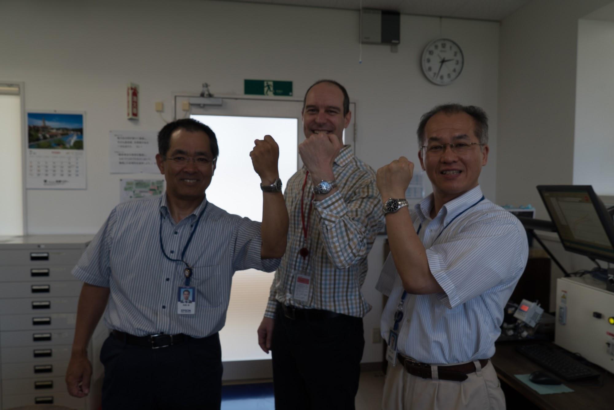 Osamu-san, Moteki-san and me
