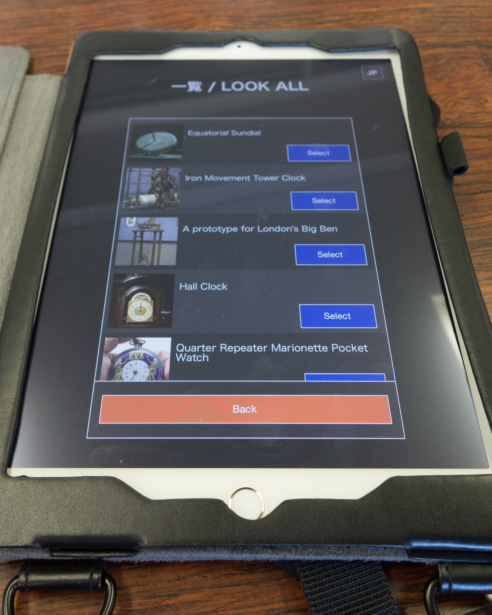 Interactive iPad system