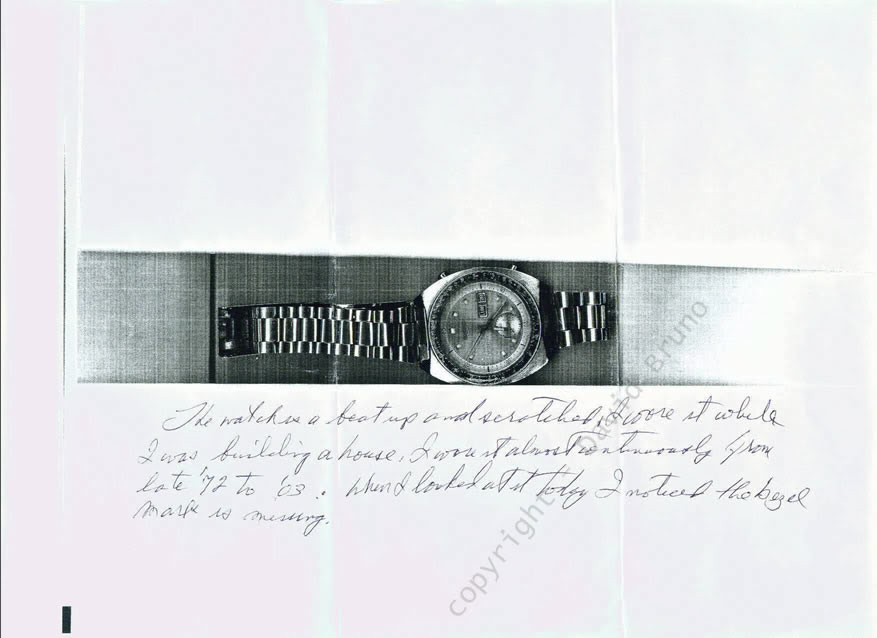 Photo of original watch