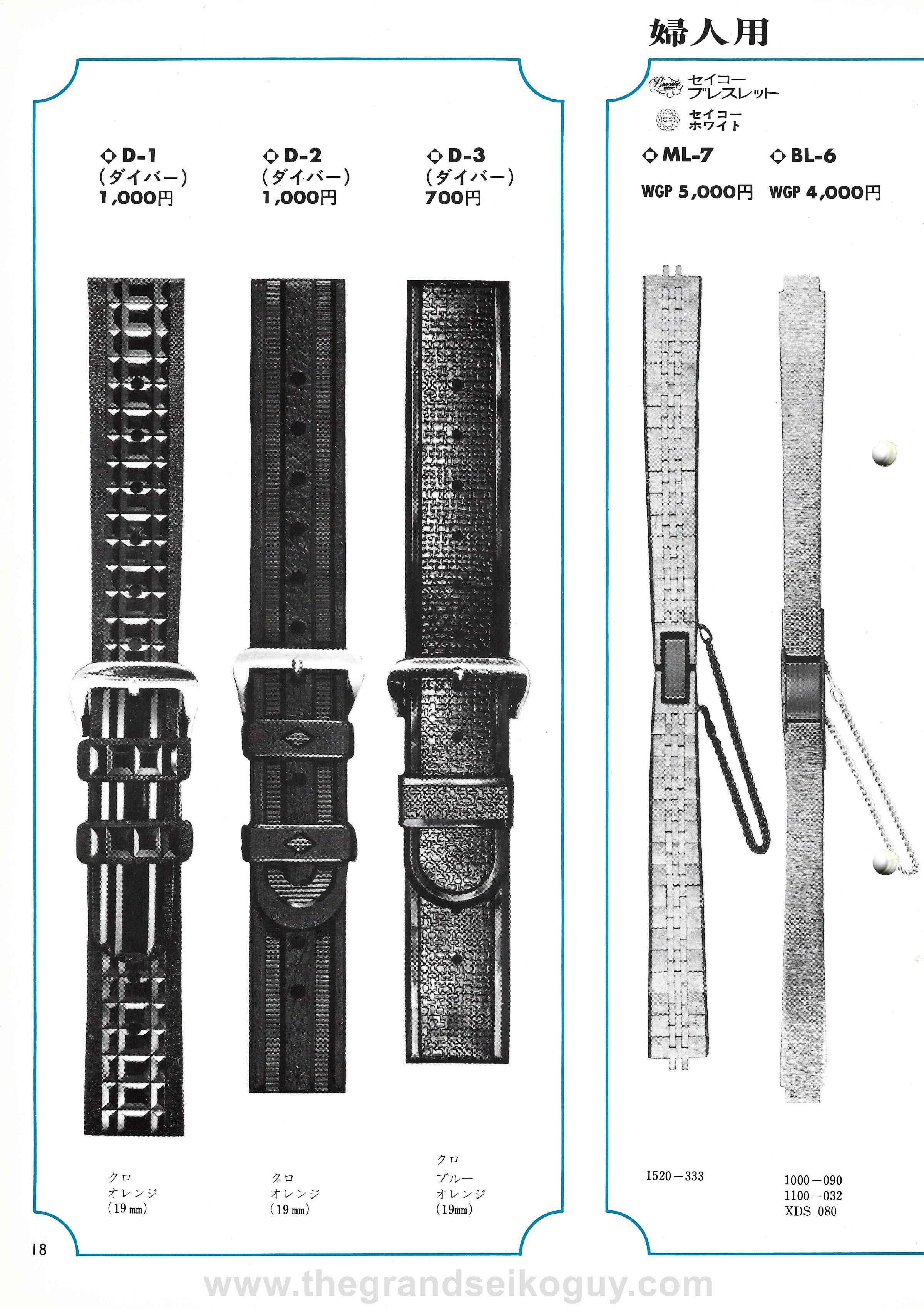 1972 No.1 Watchband Catalog