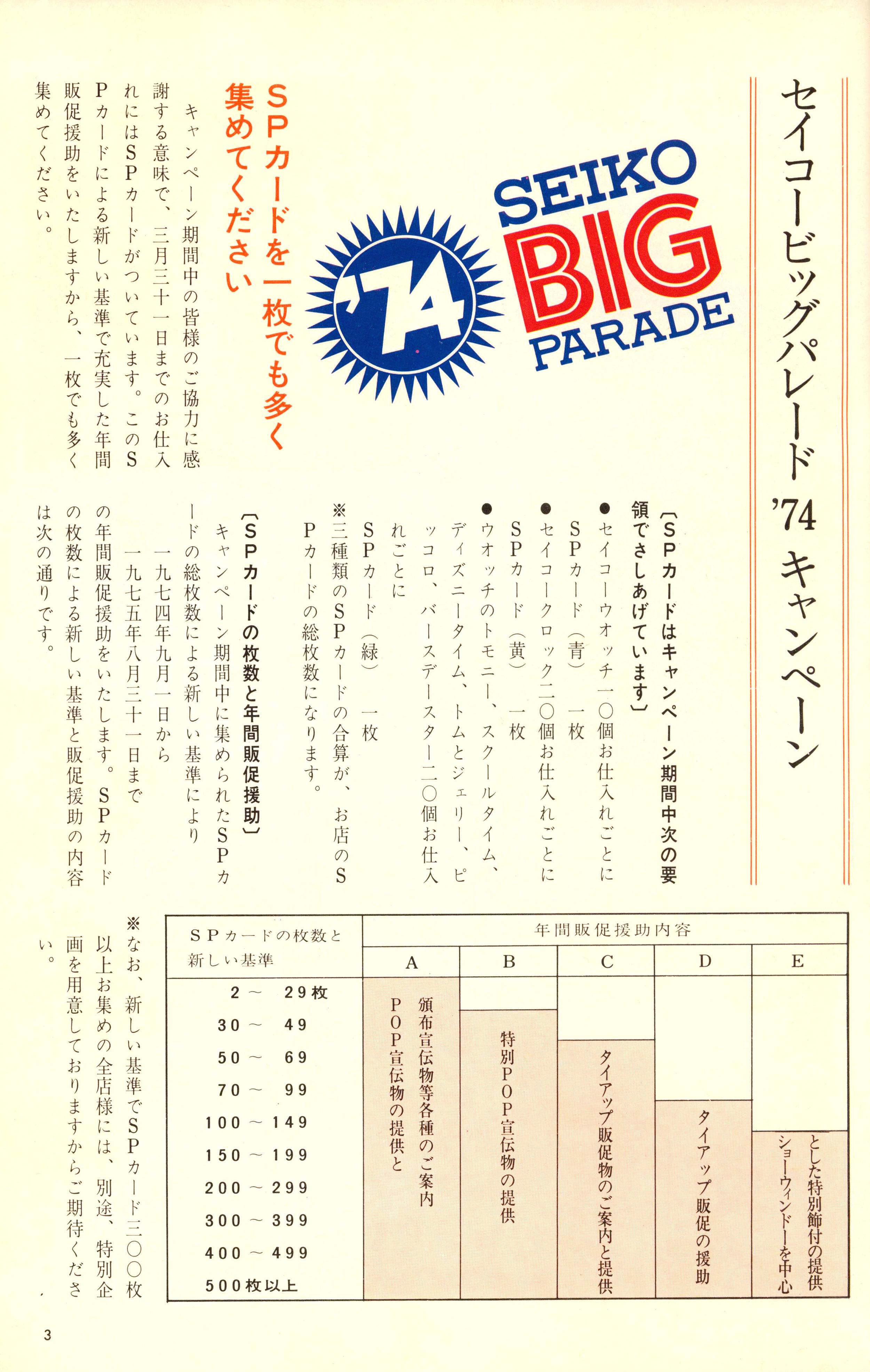 Seiko Big Parade Campaign